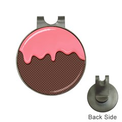 Ice Cream Pink Choholate Plaid Chevron Hat Clips With Golf Markers by Mariart