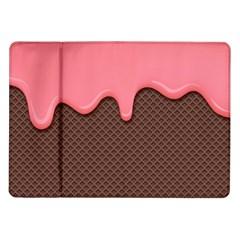 Ice Cream Pink Choholate Plaid Chevron Samsung Galaxy Tab 10 1  P7500 Flip Case