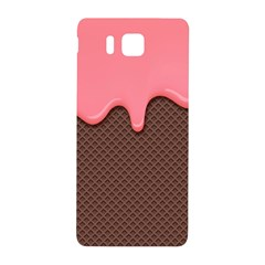Ice Cream Pink Choholate Plaid Chevron Samsung Galaxy Alpha Hardshell Back Case by Mariart