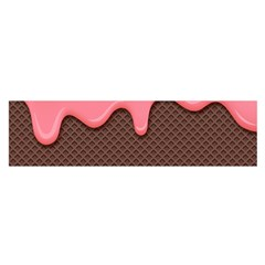 Ice Cream Pink Choholate Plaid Chevron Satin Scarf (oblong) by Mariart