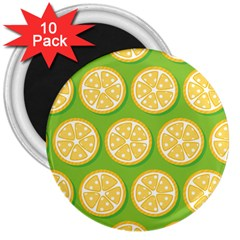 Lime Orange Yellow Green Fruit 3  Magnets (10 Pack)  by Mariart