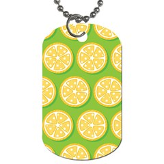 Lime Orange Yellow Green Fruit Dog Tag (two Sides) by Mariart