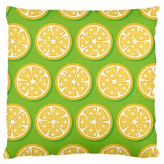 Lime Orange Yellow Green Fruit Large Cushion Case (two Sides) by Mariart