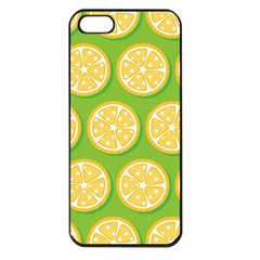 Lime Orange Yellow Green Fruit Apple Iphone 5 Seamless Case (black) by Mariart