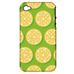 Lime Orange Yellow Green Fruit Apple Iphone 4/4s Hardshell Case (pc+silicone) by Mariart