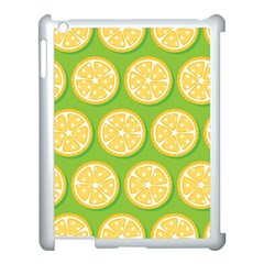 Lime Orange Yellow Green Fruit Apple Ipad 3/4 Case (white) by Mariart