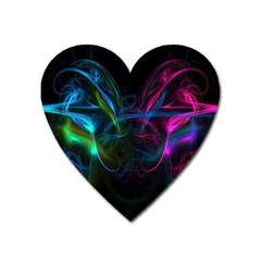 Light Waves Light Red Blue Heart Magnet by Mariart