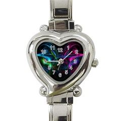Light Waves Light Red Blue Heart Italian Charm Watch by Mariart