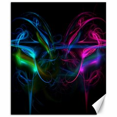 Light Waves Light Red Blue Canvas 20  X 24   by Mariart