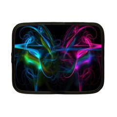 Light Waves Light Red Blue Netbook Case (small)  by Mariart