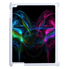 Light Waves Light Red Blue Apple Ipad 2 Case (white) by Mariart
