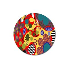 Line Star Polka Dots Plaid Circle Magnet 3  (round) by Mariart