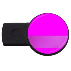 Line Pink Usb Flash Drive Round (4 Gb) by Mariart