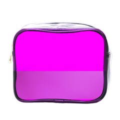 Line Pink Mini Toiletries Bags by Mariart