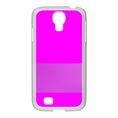 Line Pink Samsung Galaxy S4 I9500/ I9505 Case (white) by Mariart
