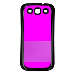 Line Pink Samsung Galaxy S3 Back Case (black) by Mariart