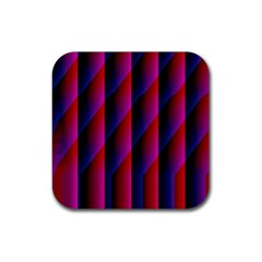 Photography Illustrations Line Wave Chevron Red Blue Vertical Light Rubber Square Coaster (4 Pack)  by Mariart