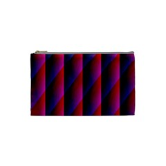Photography Illustrations Line Wave Chevron Red Blue Vertical Light Cosmetic Bag (small)  by Mariart
