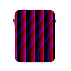 Photography Illustrations Line Wave Chevron Red Blue Vertical Light Apple Ipad 2/3/4 Protective Soft Cases by Mariart