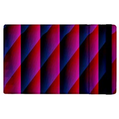 Photography Illustrations Line Wave Chevron Red Blue Vertical Light Apple Ipad Pro 12 9   Flip Case