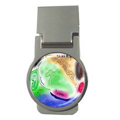 Mirror Light Money Clips (round)  by Mariart