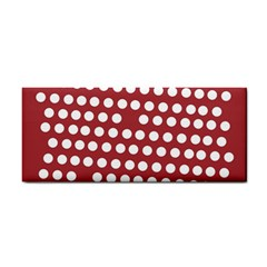 Pink White Polka Dots Cosmetic Storage Cases by Mariart
