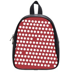 Pink White Polka Dots School Bags (small)  by Mariart
