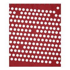 Pink White Polka Dots Shower Curtain 60  X 72  (medium)  by Mariart