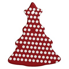 Pink White Polka Dots Christmas Tree Ornament (two Sides) by Mariart