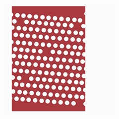Pink White Polka Dots Large Garden Flag (two Sides) by Mariart