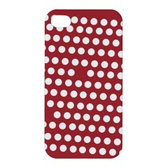 Pink White Polka Dots Apple Iphone 4/4s Premium Hardshell Case by Mariart