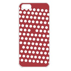 Pink White Polka Dots Apple Iphone 5 Seamless Case (white) by Mariart