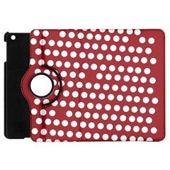 Pink White Polka Dots Apple Ipad Mini Flip 360 Case by Mariart