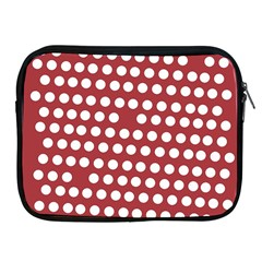 Pink White Polka Dots Apple Ipad 2/3/4 Zipper Cases by Mariart