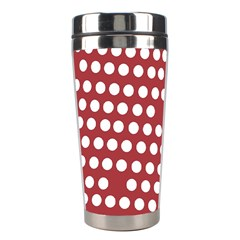 Pink White Polka Dots Stainless Steel Travel Tumblers