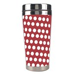 Pink White Polka Dots Stainless Steel Travel Tumblers Right