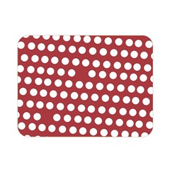 Pink White Polka Dots Double Sided Flano Blanket (mini)  by Mariart
