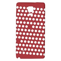 Pink White Polka Dots Galaxy Note 4 Back Case by Mariart