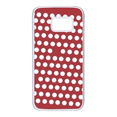Pink White Polka Dots Samsung Galaxy S7 White Seamless Case by Mariart