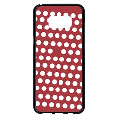 Pink White Polka Dots Samsung Galaxy S8 Plus Black Seamless Case by Mariart