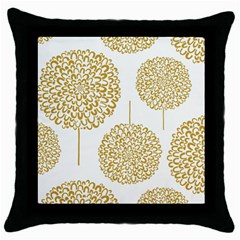Loboloup Hydrangea Quote Floral And Botanical Flower Throw Pillow Case (black) by Mariart