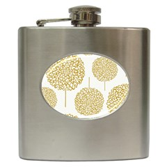 Loboloup Hydrangea Quote Floral And Botanical Flower Hip Flask (6 Oz) by Mariart