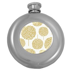 Loboloup Hydrangea Quote Floral And Botanical Flower Round Hip Flask (5 Oz) by Mariart