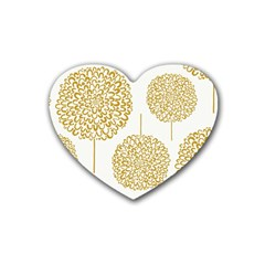 Loboloup Hydrangea Quote Floral And Botanical Flower Heart Coaster (4 Pack)  by Mariart