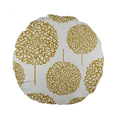 Loboloup Hydrangea Quote Floral And Botanical Flower Standard 15  Premium Round Cushions by Mariart