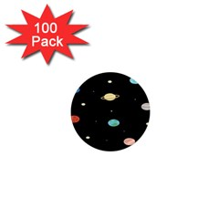 Planets Space 1  Mini Magnets (100 Pack)  by Mariart