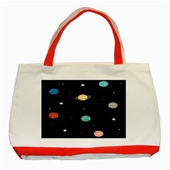 Planets Space Classic Tote Bag (red) by Mariart