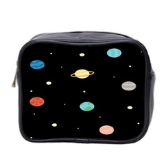 Planets Space Mini Toiletries Bag 2 Side by Mariart