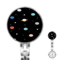 Planets Space Stainless Steel Nurses Watch by Mariart