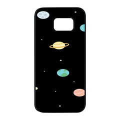 Planets Space Samsung Galaxy S7 Edge Black Seamless Case by Mariart
